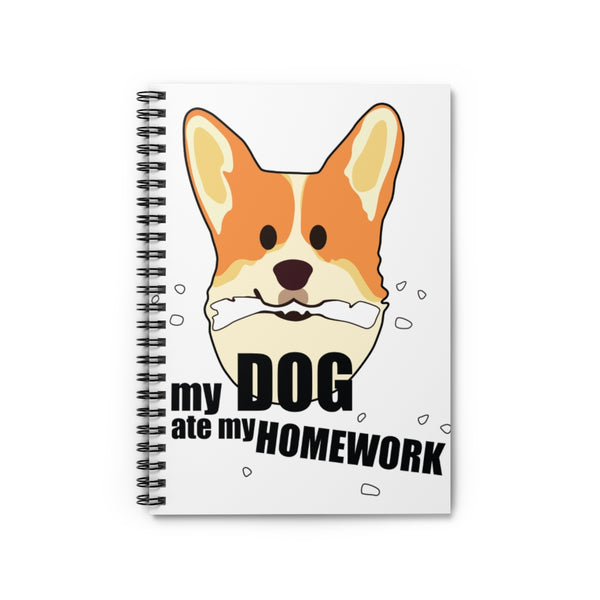 My Dog Ate My Homework, Back to School Spiral Notebook - Ruled Line
