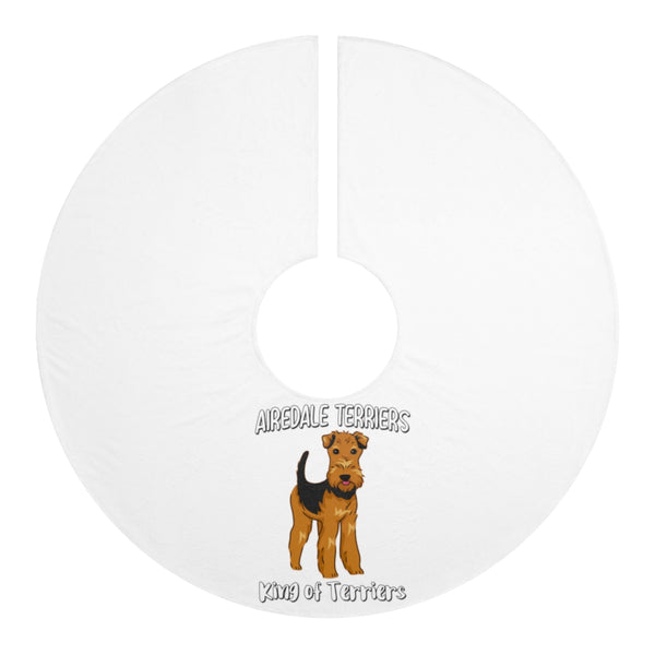 Airedale Terrier Personalized Christmas Tree Skirts