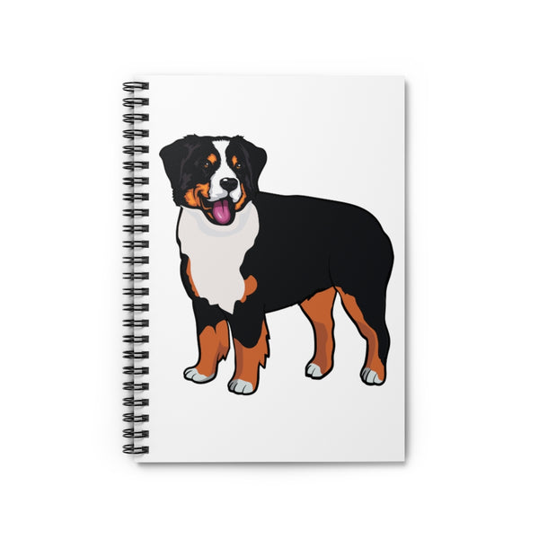 Bernese Mountain Dog Spiral Notebook - Ruled Line