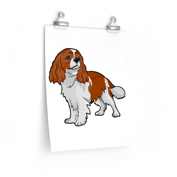 Cavalier King Charles Spaniel Premium Matte vertical posters