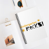 Kindergarten Rocks, Back to School Spiral Notebook - Ruled Line
