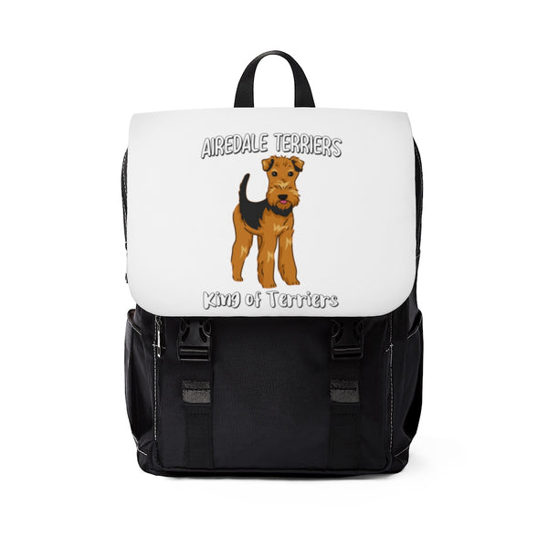 Airedale Terrier Unisex Casual Shoulder Backpack