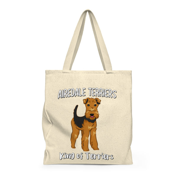Airedale Terrier Shoulder Tote Bag - Roomy, Cosmetic, Makeup, Travel Bag