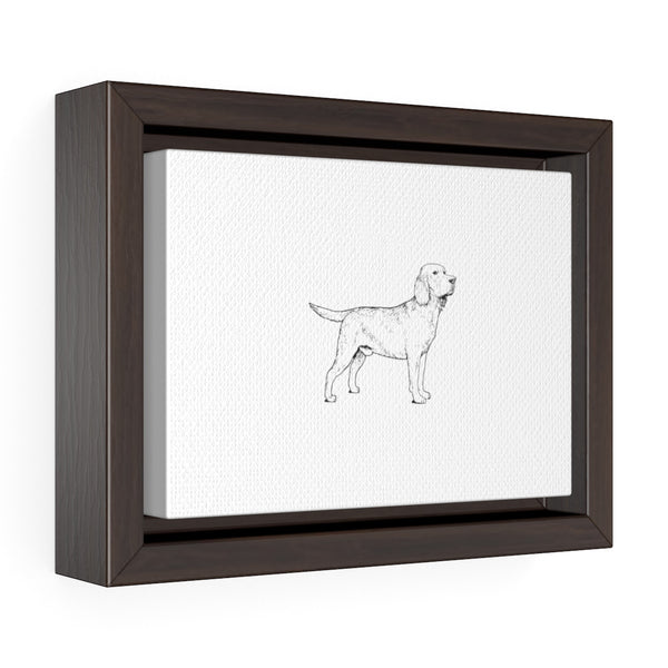Labrador Retriever Horizontal Framed Premium Gallery Wrap Canvas