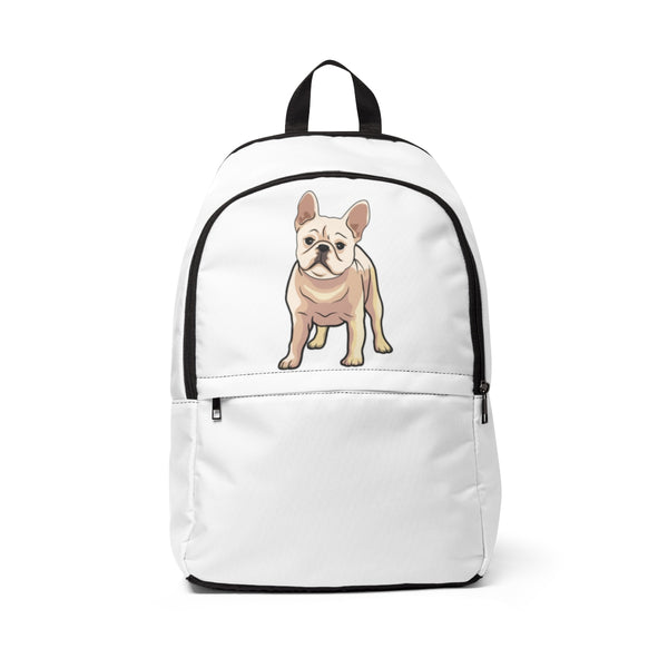 French Bulldog Unisex Fabric Backpack