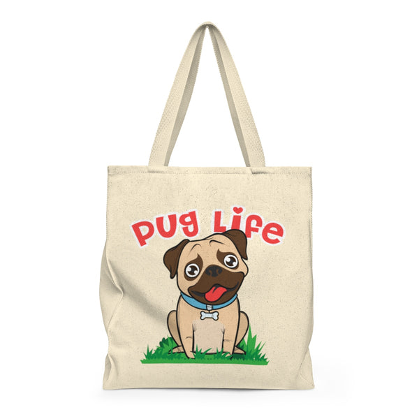 Pug Life Shoulder Tote Bag - Roomy