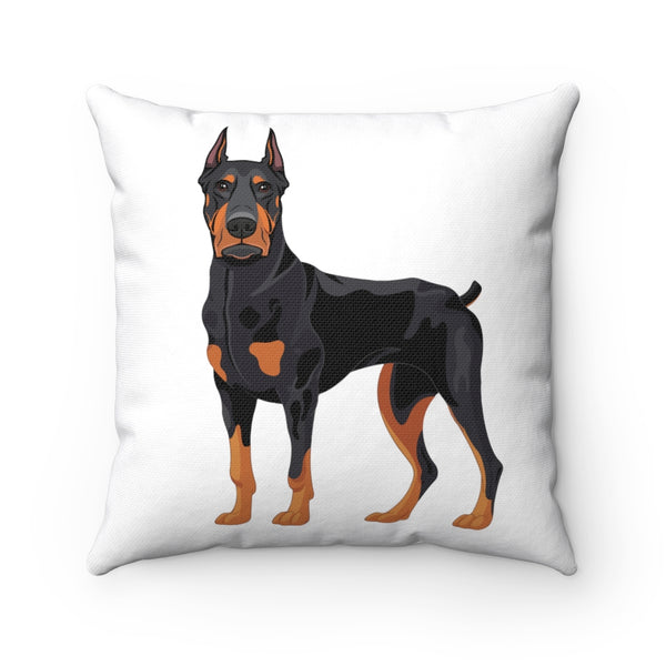 Doberman Pinscher Spun Polyester Square Pillow