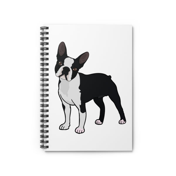 Boston Terrier Spiral Notebook - Ruled Line