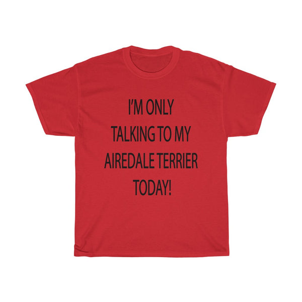 Airedale Terrier Unisex Heavy Cotton Tee