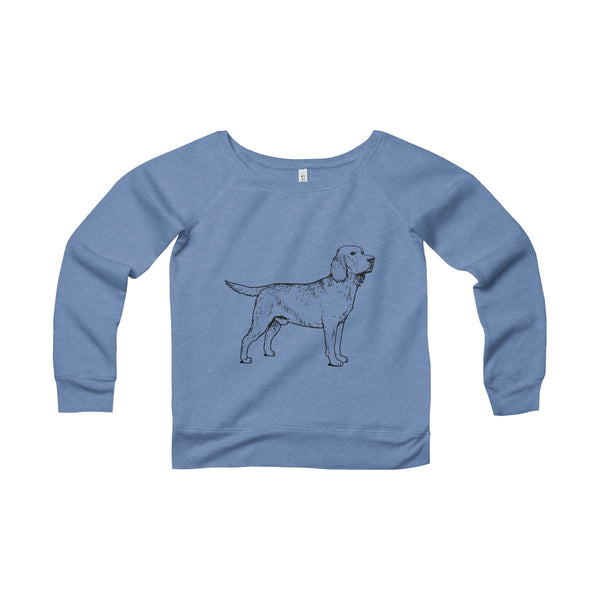 Labrador Retriever Women's Sponge Fleece Wide Neck Sweatshirt