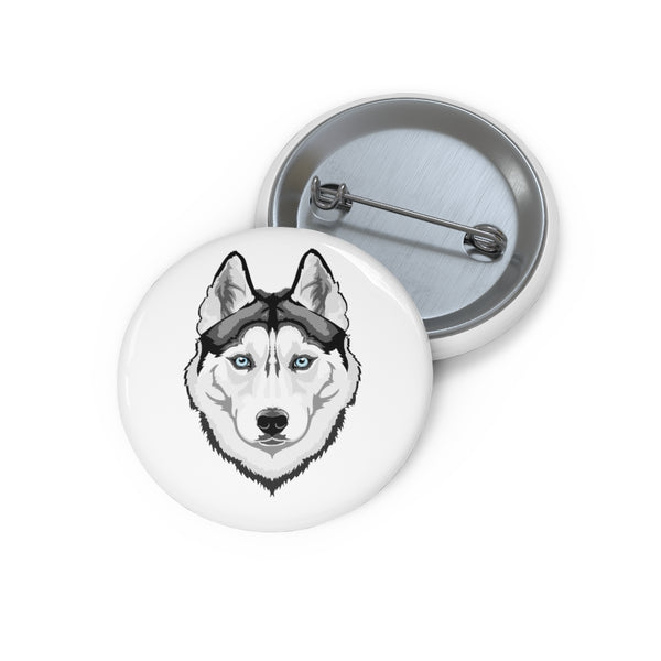 Siberian Husky Custom Pin Buttons