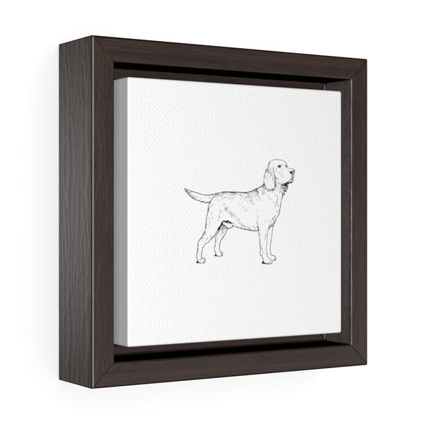 Labrador Retriever Square Framed Premium Gallery Wrap Canvas