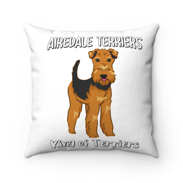 Airedale Terrier Spun Polyester Square Pillow