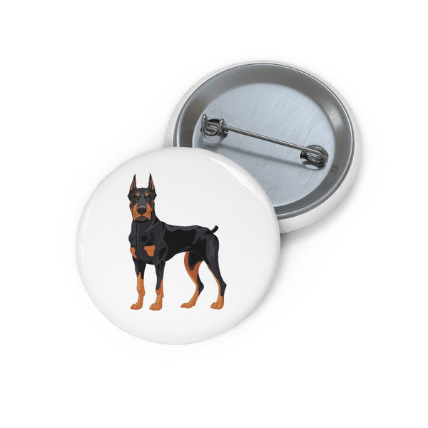 Doberman PInscher Custom Pin Buttons