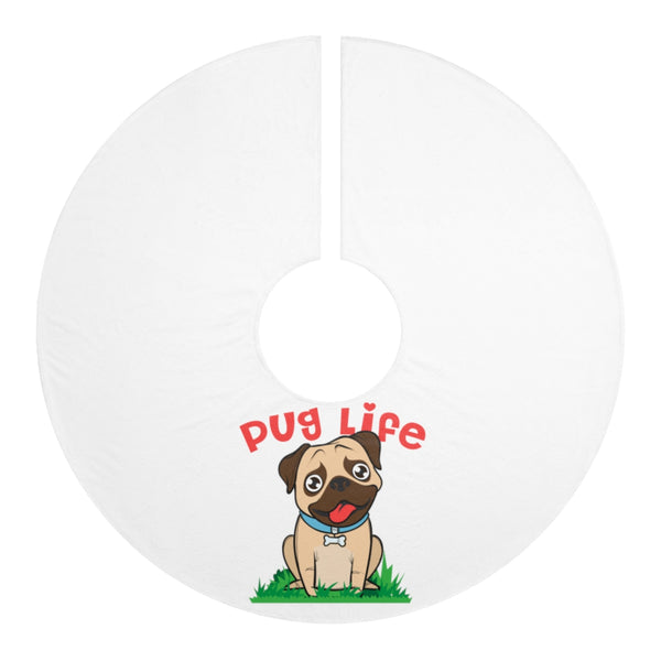 Pug Personalized Christmas Tree Skirts