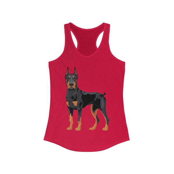 Doberman Pinscher Women's Ideal Racerback Tank