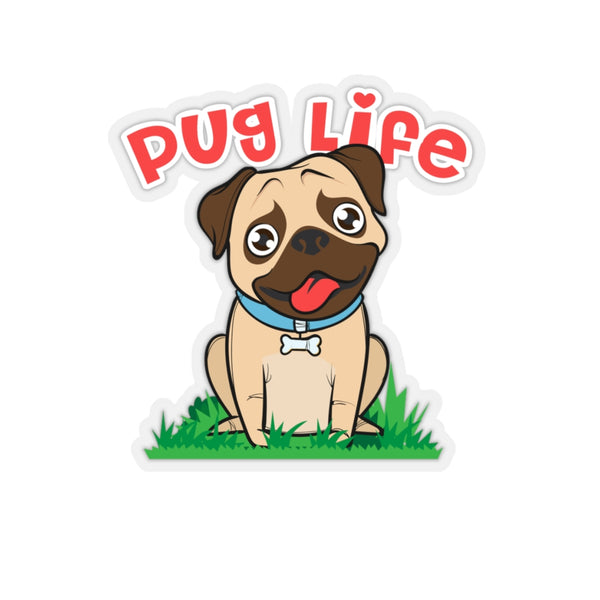 Pug Life Kiss-Cut Stickers