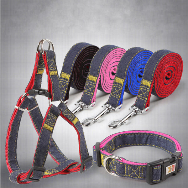1 Pc Dog Collar Pet Leash Dogs Harness Teddy Husky Dog Poodle Supplies Small Medium Large Adjustable Pet Leash Collar