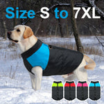 Clothes for Large Dogs Waterproof Dog Vest Jacket Winter Nylon Dogs Clothing for Dogs Chihuahua Labrador Blue Pink