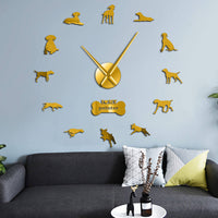 German Shorthaired Pointer Dog Breed Modern 3D DIY Wall Clock  Deutsch Kurzhaar Wall Watch Pet Lover Gift Creative Show