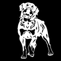 Rottweiler Dog Car Stickers, 17*26.2CM, Vinyl Decal, Car Styling, Truck Decoration, Black/Silver