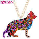 German Shepherd Bonsny Acrylic Necklace, Pendant, Chain, Collar, Choker