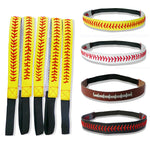 Softball Leather Seamed Headbands, Hair Bands, 19 Variations, FREE Shipping