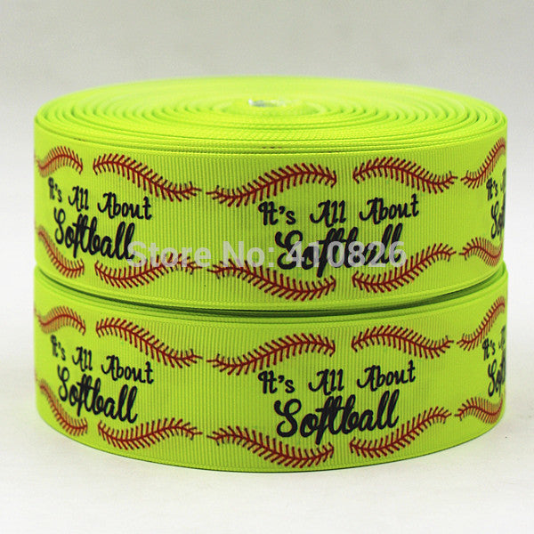 Softball Ribbon, 50 yds/roll, 1.5 Inches Wide, FREE Shipping