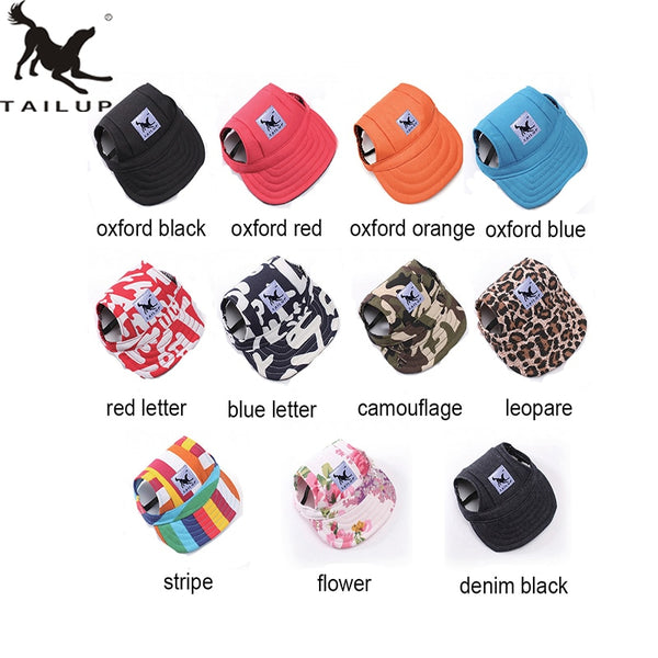 Hat for Dogs, Cotton Baseball Cap for Small Dog, Many Color Options Available