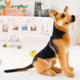 German Shepherd Plush Toy, Sitting Puppy Doll, Stuffed Animal, Kids Toy, 3 Sizes
