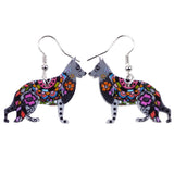 German Shepherd Bonsny Drop Earrings, Acrylic Pattern, Fashion Jewelry