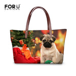 Shih Tzu Women Handbag, Shoulder Bag, Casual Tote for Ladies, Pugs, Female Totes