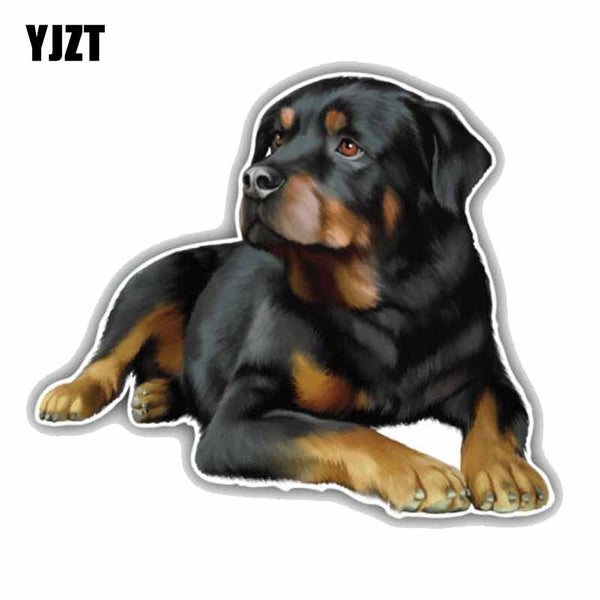 Rottweiler Dog Car Decoration, 11CMx9.6CM,  PVC Car Sticker, Decal,