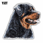 Rottweiler Dog Head PVC Car Sticker, 14CMx14CM