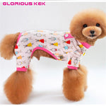 Dog Clothes, Jumpsuit, Cotton Dog Pajamas, Four-Leg Warm Clothes for Dogs, Shih Tzu, Yorkie Clothes