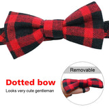 Bownot Dog Collar Plaid Cat Dog Collars Breakaway Small Dog Collar for Small Dog Puppy Kitten Pets Chihuahua Toy Poodle