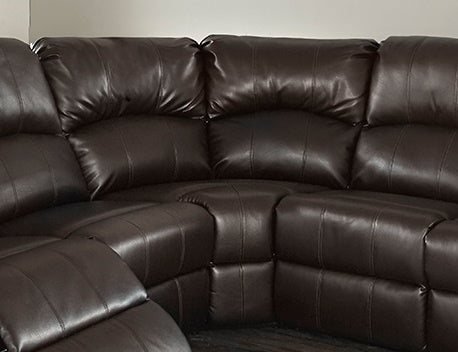 Anya Corner Brown Bonded Leather Sofa