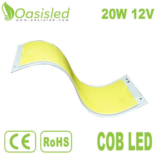 Flexible Printed Circuit Board Rectangle DC COB LED Light Source FPCB 8W 12V FPCB116-53-20-12