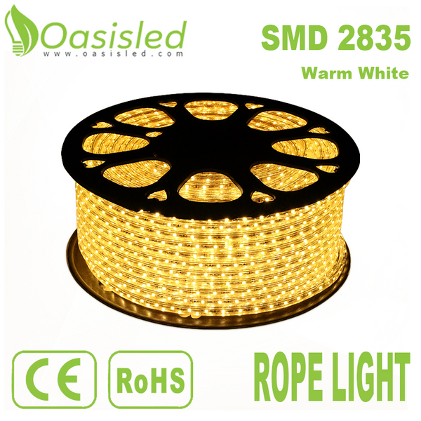 Waterproof IP68 Flexible 2835 SMD LED Strip Light Warm White RLBC2835-180-W