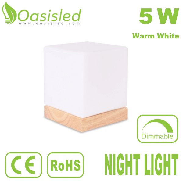 Cube Dimmable Warm White LED Night Light 5W NLDI140-5W3D