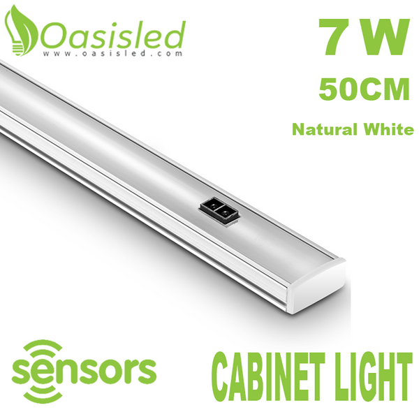Motion Sensor 50cm LED Under Cabinet Lighting 7W AC85-265V Natural White CLHX50-7WN