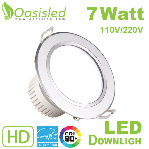 Commercial Recessed Aluminum LED Downlight 7W 110V-220V DLSL108-7W