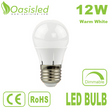 E27 Dimmable LED Bulb 12W AC100-240V Warm White BUDK60-120-12WW-D