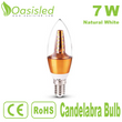 High Brightness E14 LED Candelabra Bulb 7W Natural White CBSD7WN-JSJP