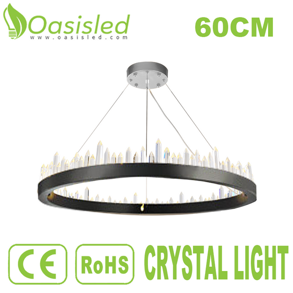 Round Shape Pendant Ceiling Crystal Light SMD LED 45W 220V CLFS60X13-45W220VB
