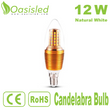 High CRI E14 LED Candelabra Bulb 12W Natural White CBSD12WN-JSJP