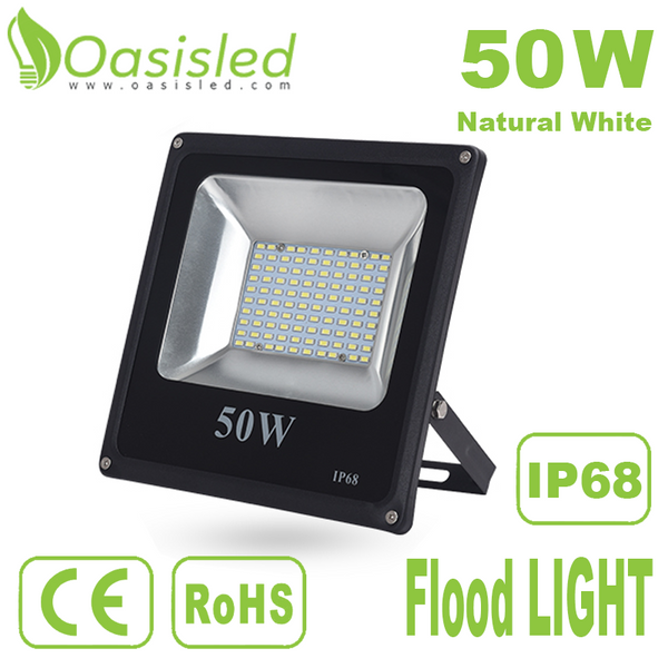 Waterproof IP65 LED Flood Light 50W Natural White FLDL225-50WN