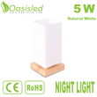Home Decoration Natural White LED Night Light 5W NLDI234-5WNW