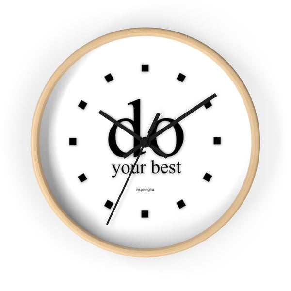 "White Wall Clock ""do your best"""