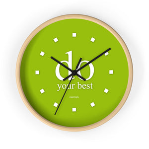 "Green Wall Clock ""do your best"""